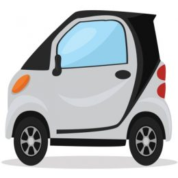Electric car , illustration, vector on white background